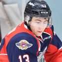 Gabriel Vilardi of the Windsor Spitfires. Photo by Terry Wilson